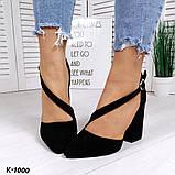 Эффектные, изящные кожаные и замшевые туфли на каблучке, фото 8