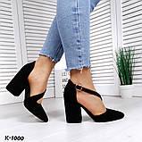Эффектные, изящные кожаные и замшевые туфли на каблучке, фото 10