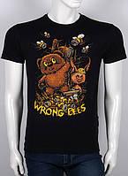 S/44 Прикольные мужские футболки с принтом Виини  черный