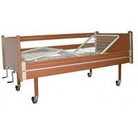 Кровать многофункциональная 3-х секционная OSD-94, с колесами, с поручнями, механическая, дерево