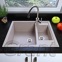 Мойка кухонная Grant Duplex, цвет - avena (ДхШхГ-615х600х200(146))