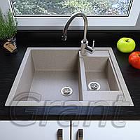 Мойка кухонная Grant Duplex, цвет - terra (ДхШхГ-615х600х200(146))