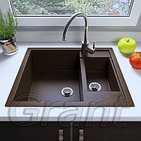 Мойка кухонная Grant Duplex, цвет - коричневый (ДхШхГ-615х600х200(146))