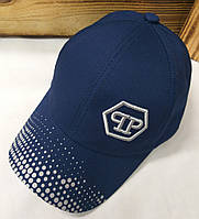 Легкая детская кепка с вышивкой PP, материал коттон, сезон весна-лето, на регуляторе, размер 50-52