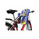Велокресло темно-серое TILLY T-812 с установкой спереди сидения по ходу или против движения велосипеда, фото 2