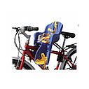 Велокресло темно-серое TILLY T-812 с установкой спереди сидения по ходу или против движения велосипеда, фото 3