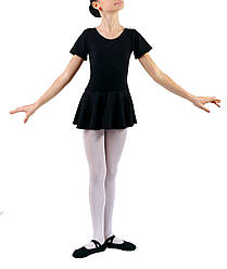 Купальник-платье для танцев. Бейсик. Трико с юбкой для танцев. Одежда  для гимнастики и хореографии