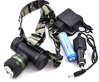 Ультрафиолетовый налобный фонарик Police BL-6957 Black (2_000472)