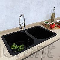 Мойка кухонная Grant Quadro, цвет - чёрный (ДхШхГ-770х470х180)