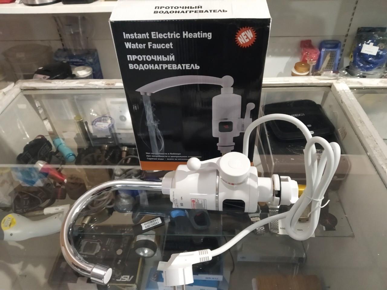 Вертикальный водонагреватель проточный на кран c LCD дисплеем RX-005 3000 Вт