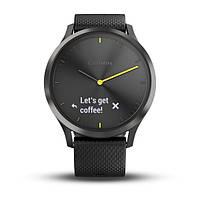Умные часы Smart Watch Garmin Vivomove HR Black водонепроницаемые, пульсометр, шагомер, контроль сна, фото 2