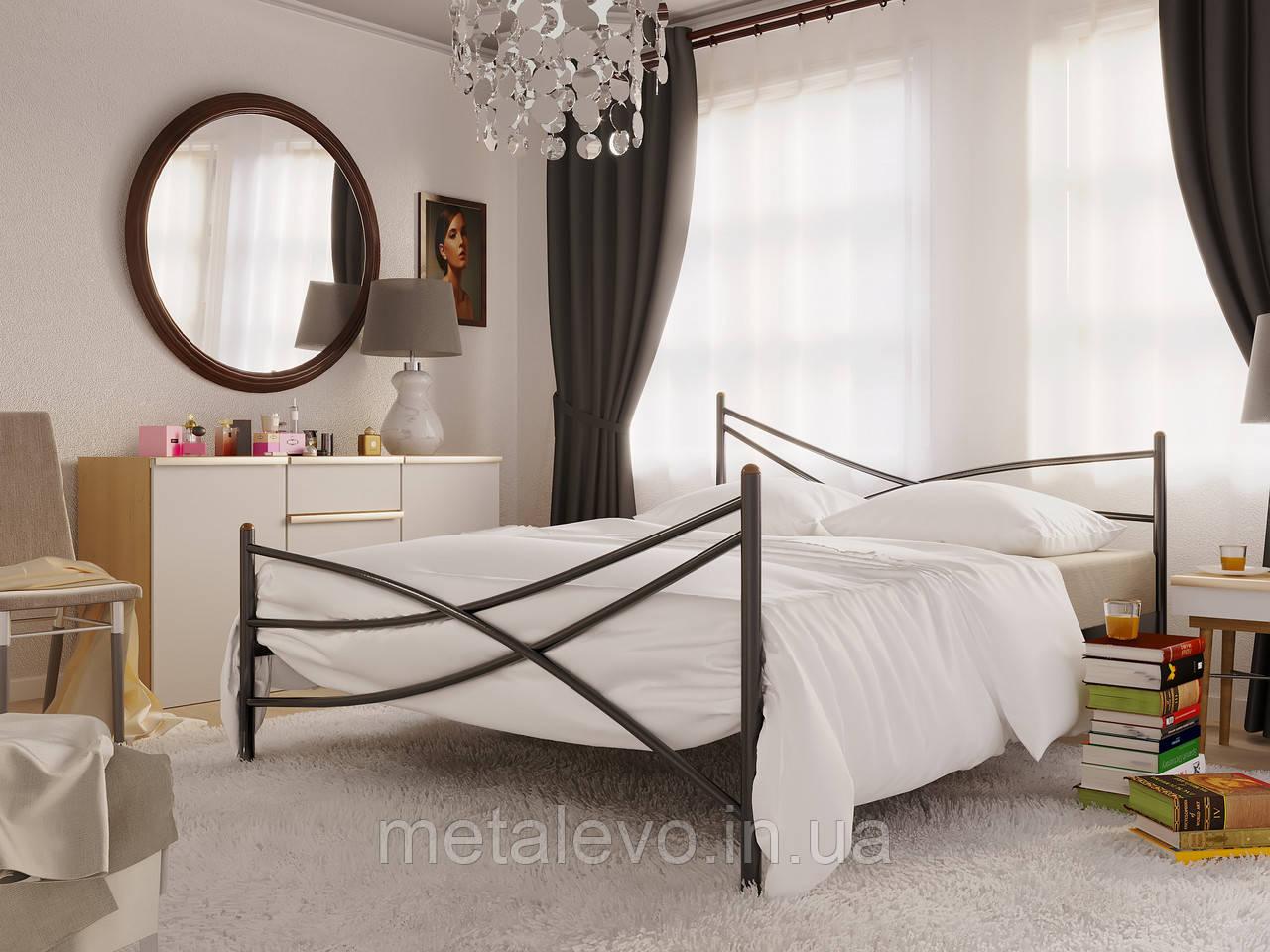 Металлическая кровать с изножьем ЛИАНА -2 ТМ Метакам