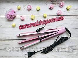 Плойка гофре утюжок щипцы для волос с турмалиновым покрытием GEMEI  2966 стайлер 3 в 1 (d = 30 мм)