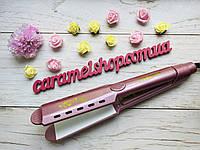 Утюжок для волос ВЫПРЯМИТЕЛЬ керамический плойка Gemei GM-2957 S, фото 1