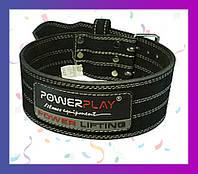 Пояс ремень для тяжелой атлетики/пауэрлифтинг PowerPlay 5150 Чорний L