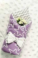 Конверт - одеяло  вязаное №2
