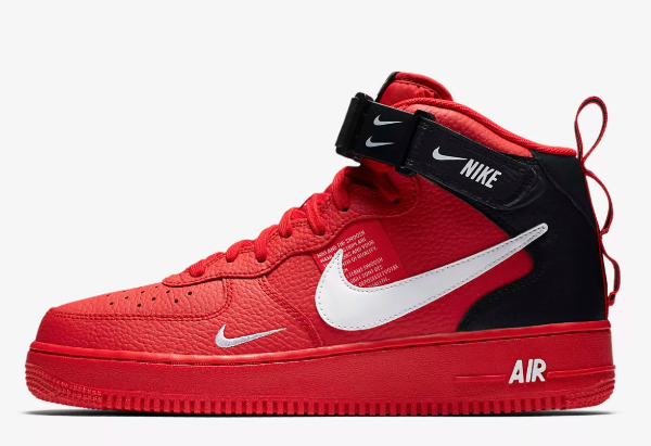 721b3439 Мужские кроссовки Nike Air Force 1 Mid 07 LV8 Utility - Red -  Интернет-магазин