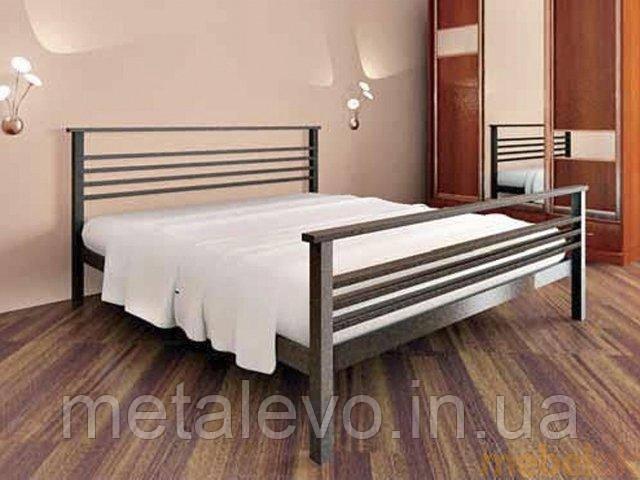 Двуспальная металлическая кровать с изножьем ЛЕКС-2 (LEX-2) 180х190