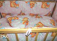 Комплект детского постельного белья 4 в 1 без балдахина