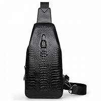 Мужская сумка Alligator BAG B цвета черный СКЛАД