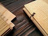 """Свадебная книга поздравлений и пожеланий 22х22 см с деревянной обложкой """"Флажок"""", фото 3"""