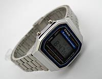 Полностью металлические часы в стиле CASIO A168 - серебристые