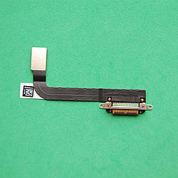Шлейф для планшета Apple iPad 3  коннектора зарядки с компонентами Black