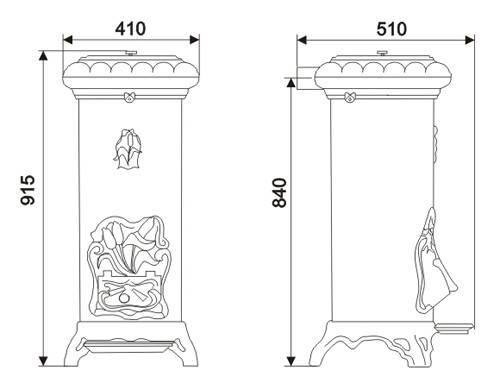 Печь камин чугунная INVICTA Sologne антрацит, фото 2