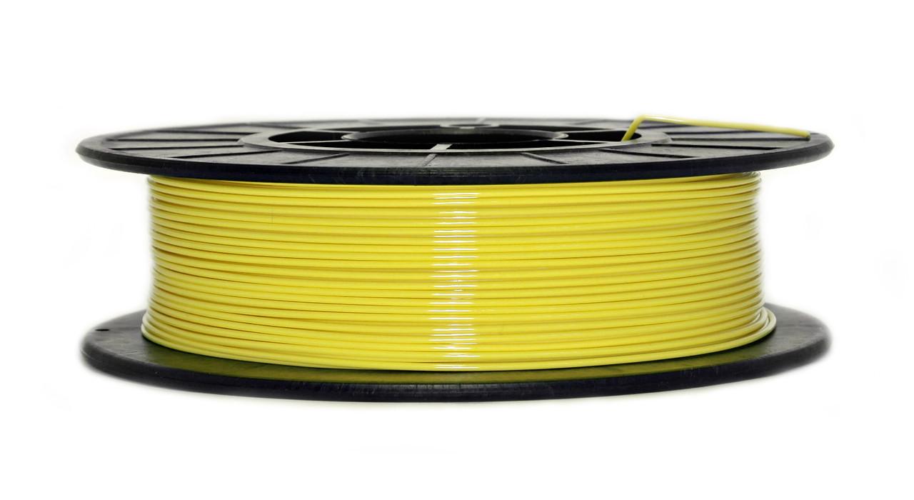 Нить PETG (CoPET, ПЕТГ) пластик для 3D печати, Желтый (1.75 мм/0.5 кг)