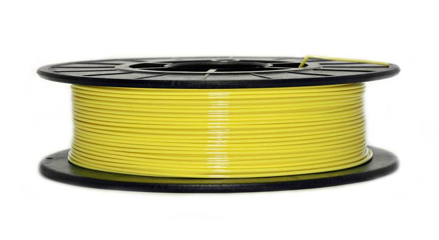 Нить PETG (CoPET, ПЕТГ) пластик для 3D печати, Желтый (1.75 мм/0.5 кг), фото 2