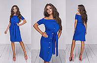 Женское платье с вырезом Анжелика (4 цвета) - Электрик ТК/-16025, фото 1