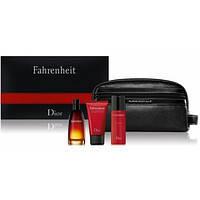 Набор парфюмерии мужская туалетная вода Christian Dior Fahrenheit 100 мл гель для душа 75 мл дезодорант 50 мл косметичка