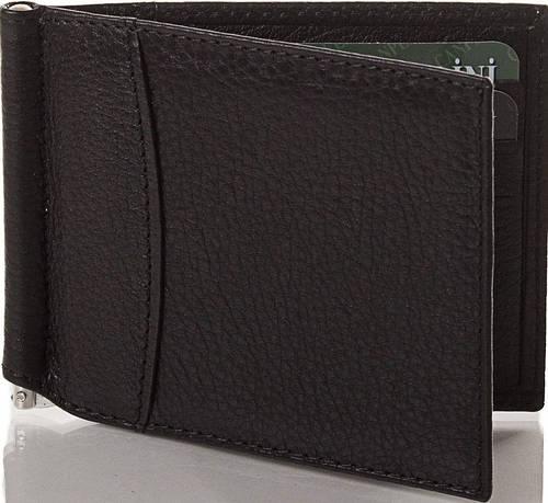 Компактный кожаный мужской зажим для купюр CANPELLINI (КАНПЕЛЛИНИ) SHI070-7 черный