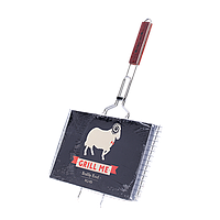 Решетка двойная хромированная Grill Me BQ-022