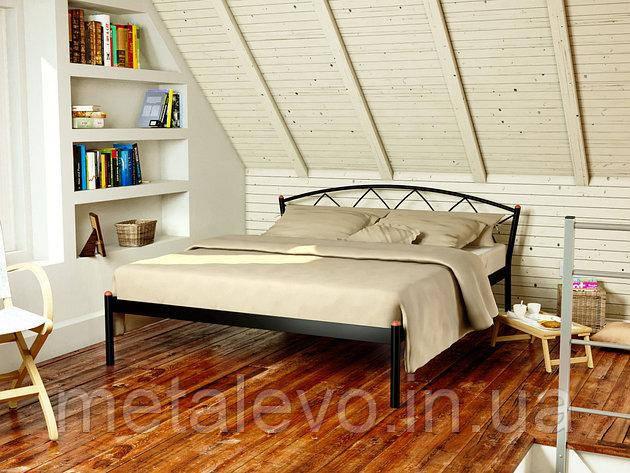 Двуспальная металлическая кровать ЖАСМИН-1 (JASMINE-1) 160х190, фото 2