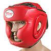 Боксерский шлем красный TWN  р. S  Flex с полной защитой регулируемый