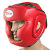 Боксерський шолом червоний TWN р. S, M, L Flex з повним захистом регульований