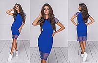 Женское комбинированное летнее платье (5 цветов) - Электрик ТК/-24035, фото 1