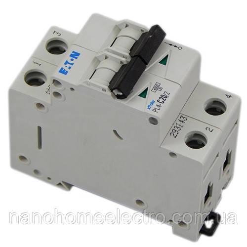 Автоматический выключатель Eaton-Moeller PL4-C 2P 20A  - NanohomeElectro в Днепре