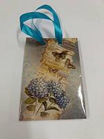 Пакет бумажный подарочный  МИНИ 8*12*3.5 арт44 (12 шт)