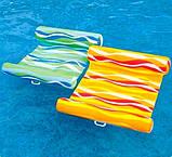 Пляжный надувной матрас гамак для плавания Intex 58834, 137х99 см Два цвета, фото 4