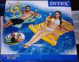 Пляжный надувной матрас гамак для плавания Intex 58834, 137х99 см Два цвета, фото 5