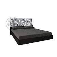 Двоспальне ліжко 160х200 з каркасом у спальню Терра Білий Глянець - Чорний Мат Міромарк