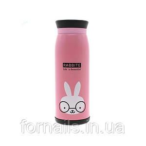Термокружка розовый кролик, 500 ml