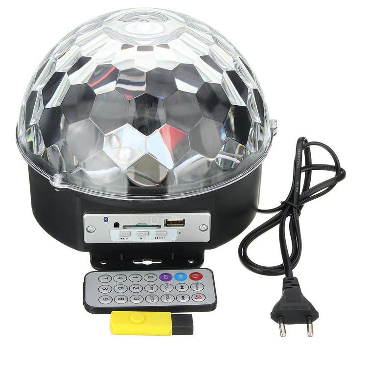 Светомузыка диско шар Magic Ball Music MP3 плеер с bluetooth Светодиодный диско-шар с динамиками, MP3 плеером
