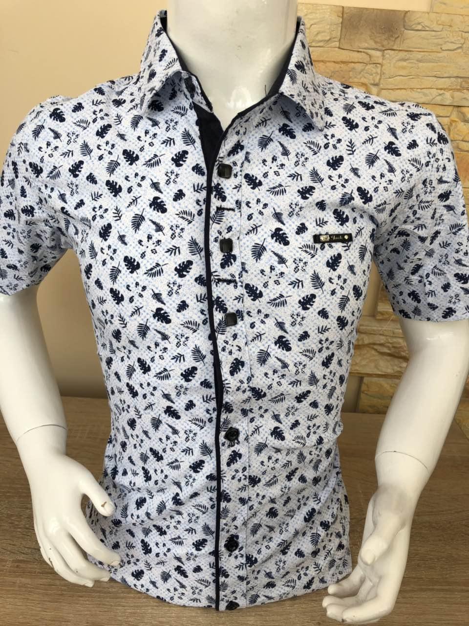 Детская рубашка с коротким рукввом Paul Jack c принтом ( 2-7)