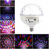 Светомузыка диско шар с цоколем Magic Ball Music MP3 плеер с bluetooth дискошар LED Magic Ball Light, фото 6