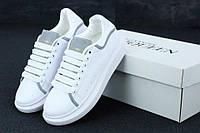 Женские кроссовки Alexander McQueen White Grey Reflective