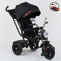 Трехколёсный велосипед Бест Трайк Best Trike 4490 - 7009 черный (разные цвета). Поворотное сиденье. Пульт.