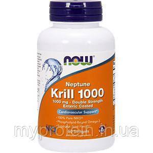 NOWАктивное долголетиеKrill Oil 1000 double strength60 softgels